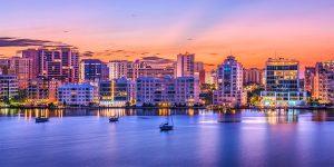 Sarasota skyline dusk