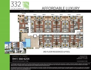 3rd Floor Residences and Pool