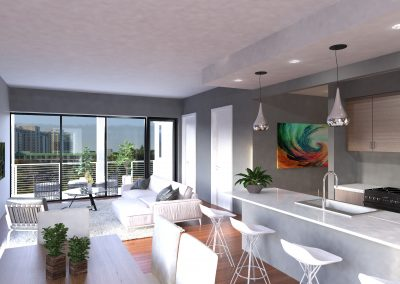 Example of a Corner Penthouse Unit