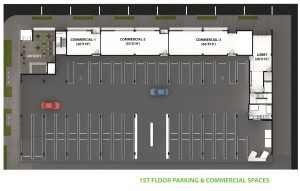 1st Floor Parking Commercial Layout