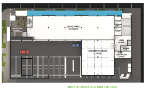 2nd Floor Offices and Storage Layout