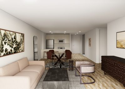 Kitchen Living Area Example