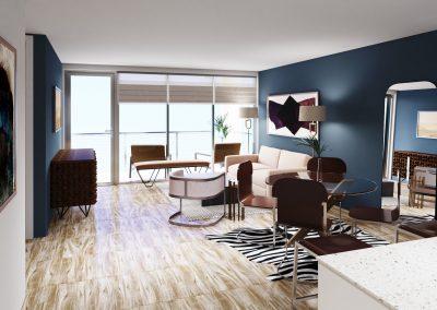 Model unit 403 living room