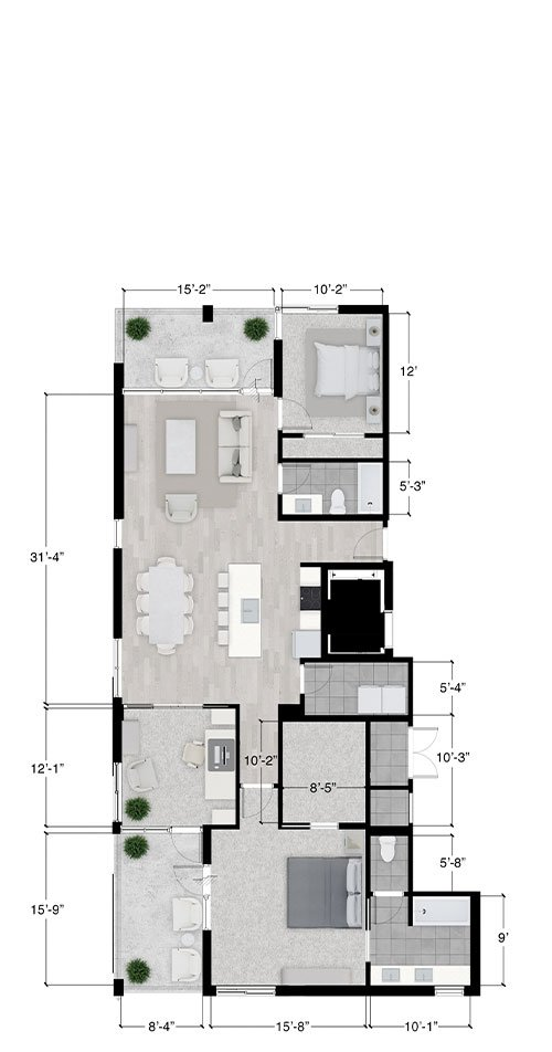 Austin penthouse floor plan