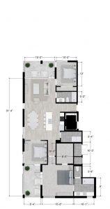 Austin penthouse floor plan
