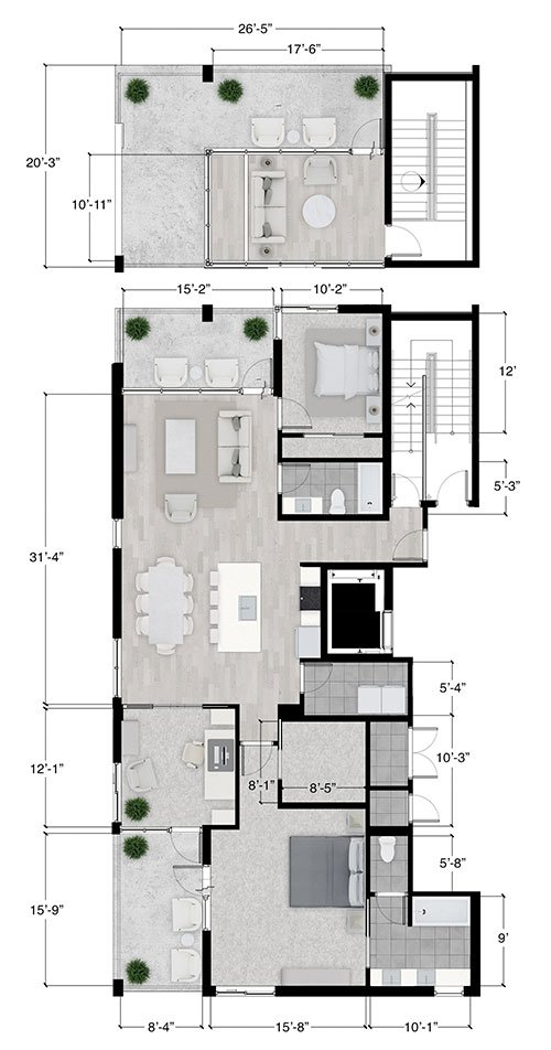 sarasota penthouse floor plan