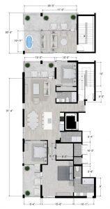 sarasota penthouse floor plan