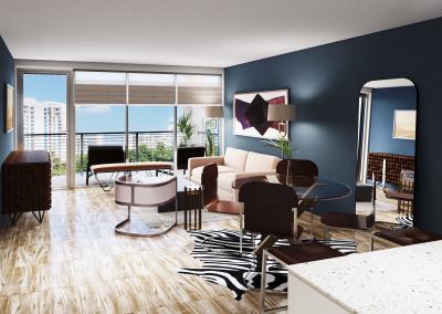Unit 403 living room