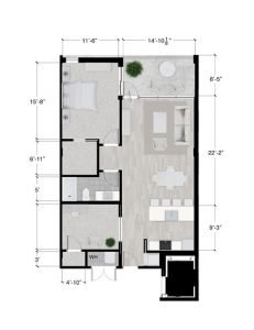 Sundance floor plan 1/1