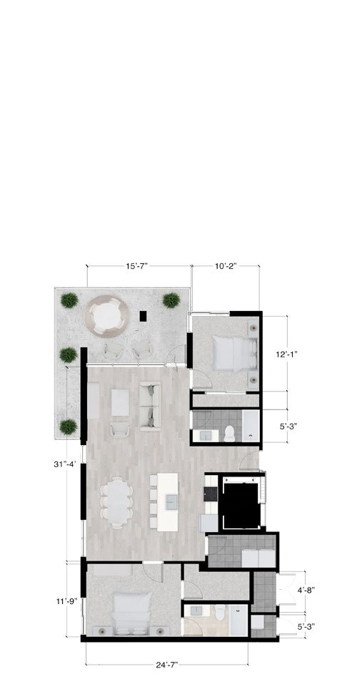 Telluride penthouse floor plan