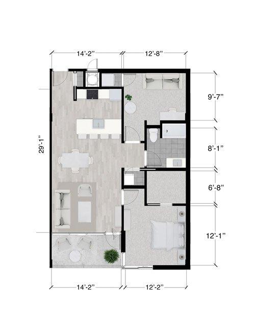 Toronto floor plan 1/1
