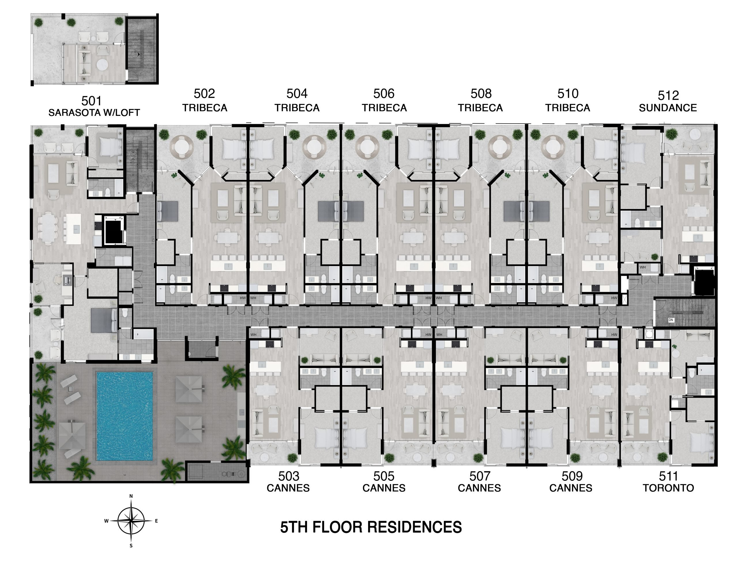 Floor 5 Full Level Floor Plan